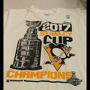 Pittsburgh PENGUINS XL 2017 Stanley cup white Tee